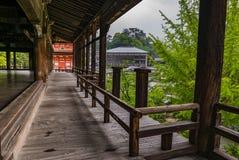 Terrazzo di Senjokaku & di x28; Toyokuni Shrine& x29; sull'isola di Miyajima immagine stock libera da diritti
