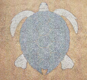 Terrazzo floor, patterned snapping turtle Royalty Free Stock Photos