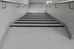 Terrazzo floor stairs walkway down Stock Image