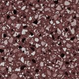 Terrazzo flooring vector seamless pattern in dark red colors. Classic italian type of floor in Venetian style composed of natural stone, granite, quartz Stock Photos