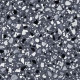 Terrazzo flooring vector seamless pattern in gray colors Royalty Free Stock Photos