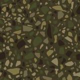 Terrazzo naadloos patroon Tegel met kiezelstenen en steen Abstracte textuurachtergrond voor verpakkend document, behang, terrazzo Stock Foto's