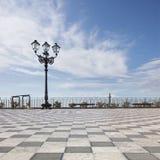 Terrazzo panoramico di Taormina fotografia stock libera da diritti