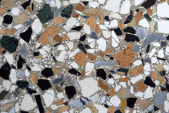 Terrazzo paving. Portion of a particular terrazzo paving in venice Stock Images