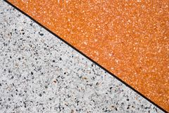 Terrazzo polished stone floor and wall pattern and color surface stock image
