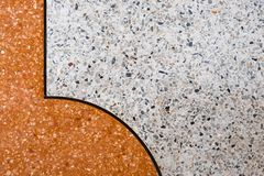 Terrazzo polished stone floor and wall pattern and color surface marble and granite stone, material for decoration background. Texture, interior design stock photo
