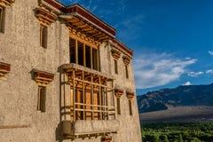 Terrazzo principale del palazzo Leh Ladakh di Shey, il Jammu e Kashmir, India fotografie stock