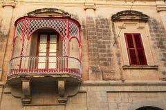 Terrazzo rosso Fotografia Stock