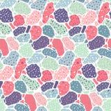 Terrazzo seamless pattern. Modern collage. royalty free illustration
