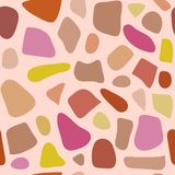 Terrazzo seamless pattern. Pattern ideal for wrapping paper, wallpaper, terrazzo flooring. stock illustration