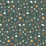 Terrazzo seamless pattern. stock illustration