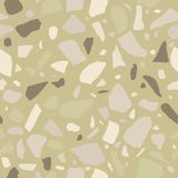Terrazzo seamless pattern. Tile with pebbles and stone. Abstract texture background for wrapping paper, wallpaper, terrazzo flooring Royalty Free Stock Photo