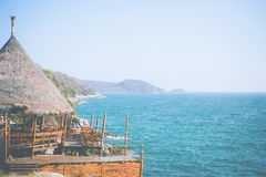 Terrazzo sulla capanna di bambù Fotografia Stock Libera da Diritti