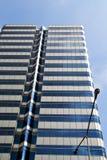 Terrazzo Tailandia di Bangkok in lampada di via dell'ufficio Immagini Stock Libere da Diritti