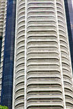 Terrazzo Tailandia di Bangkok nel grattacielo del distretto di ufficio Fotografie Stock