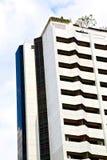 terrazzo Tailandia di Bangkok nell'albero dei palazzi del distretto di ufficio Fotografia Stock