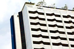 terrazzo Tailandia di Bangkok nella pianta dei palazzi del distretto di ufficio Fotografie Stock Libere da Diritti