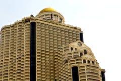 terrazzo Tailandia di Bangkok in skyscra di giallo del distretto di ufficio Immagini Stock Libere da Diritti
