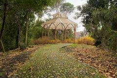 Terrazzo in un giardino Fotografia Stock