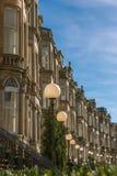 Terrazzo vittoriano nella vicinanza del parco del Queens di Glasgow fotografia stock libera da diritti