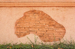 Terrazzo wall and patterned red brick Stock Images