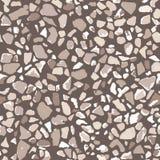 Terrazzobevloering, naadloos patroon, bruine textuur als achtergrond Abstract vectorontwerp voor druk op vloer, muur, tegel of te stock illustratie