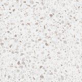 Terrazzobodenbelagbeschaffenheit Realistisches Vektormuster des Mosaikfußbodens mit Natursteinen, Granit, Marmor, Quarz, Beton lizenzfreie abbildung