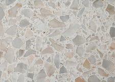 Terrazzogolvtextur, den polerade stenmodellväggen och färgyttersida marmorerar för bakgrund Royaltyfri Fotografi