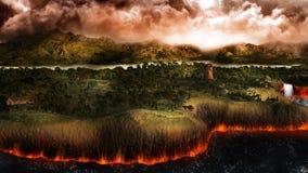 Terre à l'extrémité du monde Photo libre de droits