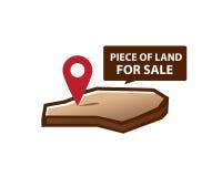 Terre à vendre l'icône Images libres de droits