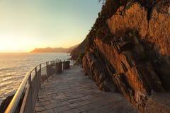 Terre. Via dell'Amore, Mediterranean coast, Italy Royalty Free Stock Photography