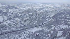 Terre bianche nell'inverno video d archivio