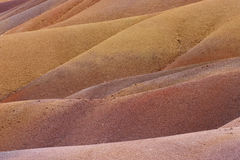 Terre colorate in mauritius Royalty Free Stock Images