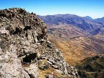 Terre déboisée en montagnes de Simien Image stock