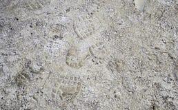 Terre de chaussure d'empreintes de pas photos stock