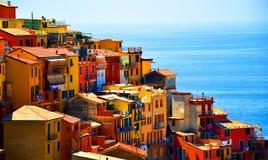 Terre de Cinque cerca del La Spezia Fotos de archivo