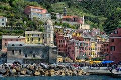 Terre de Cinque en Italie Images libres de droits