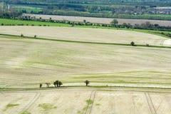 Terre de ferme dans le paysage de roulement image stock