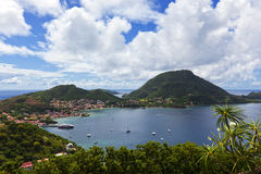 Terre-de-Haut island, Guadeloupe archipelago. Terre-de-Haut, Les Saintes islands in the Guadeloupe archipelago Stock Photos