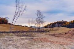 Terre de la Toscane en automne Photo libre de droits