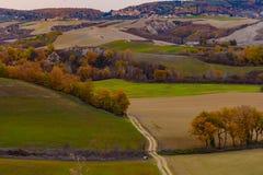 Terre de la Toscane en automne Image libre de droits
