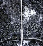 Terre de merveille d'hiver d'en haut photos libres de droits