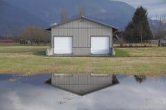 Terre de pâturage inondée Photographie stock libre de droits