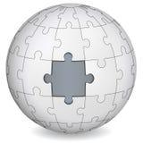 Terre de puzzle avec le gris le milieu Photo libre de droits