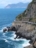terre de route d'amour d'horizontal de l'Italie de cinque Image libre de droits