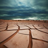 Terre de sécheresse dans Gobi Images stock
