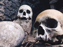 Terre de Toraja, vieilles tombes photo libre de droits