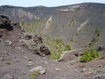Terre de volcan dans la route Photos stock