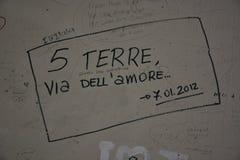 Terre del cinque dei graffiti Fotografie Stock