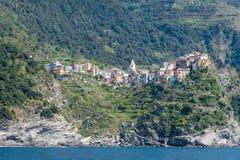 Terre di Cinque in Italia Fotografia Stock